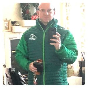 Connaught rugby club jacket (never worm outside)